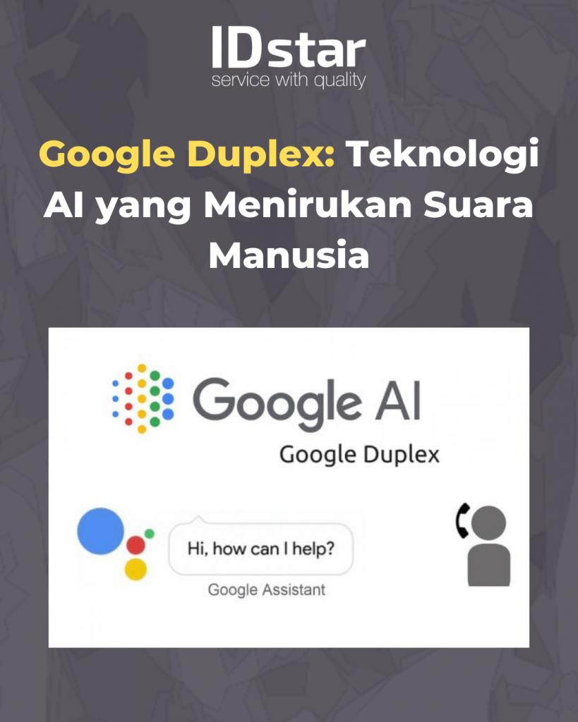 Google Duplex Teknologi AI yang Menirukan Suara Manusia Blog