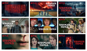 Netflix Series Stranger Things Personalized Thumbnails